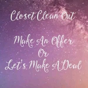 Other - Closet Clean Out Make An Offer/Let's Make A Deal